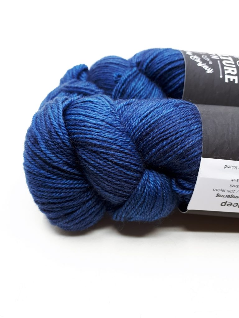 Hand Dyed Yarn Fingering  Sock Weight Inky Depths